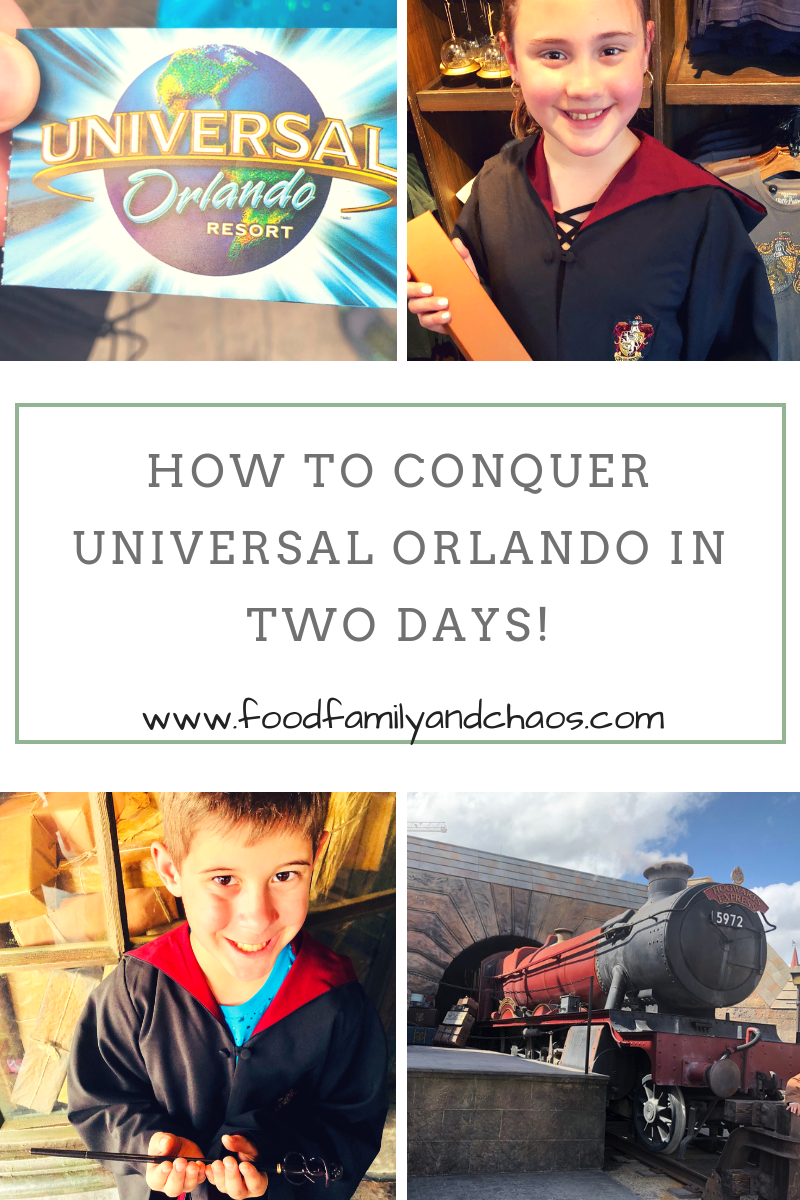 how to conquer universal orlando in two days