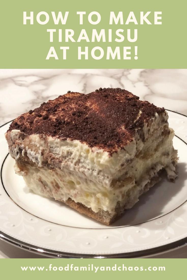 how to make tiramisu at home