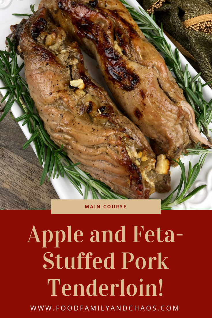 apple and feta stuffed pork tenderloin