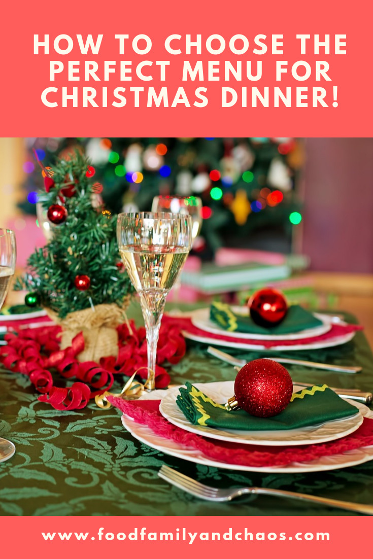 how to choose the perfect menu for christmas dinner