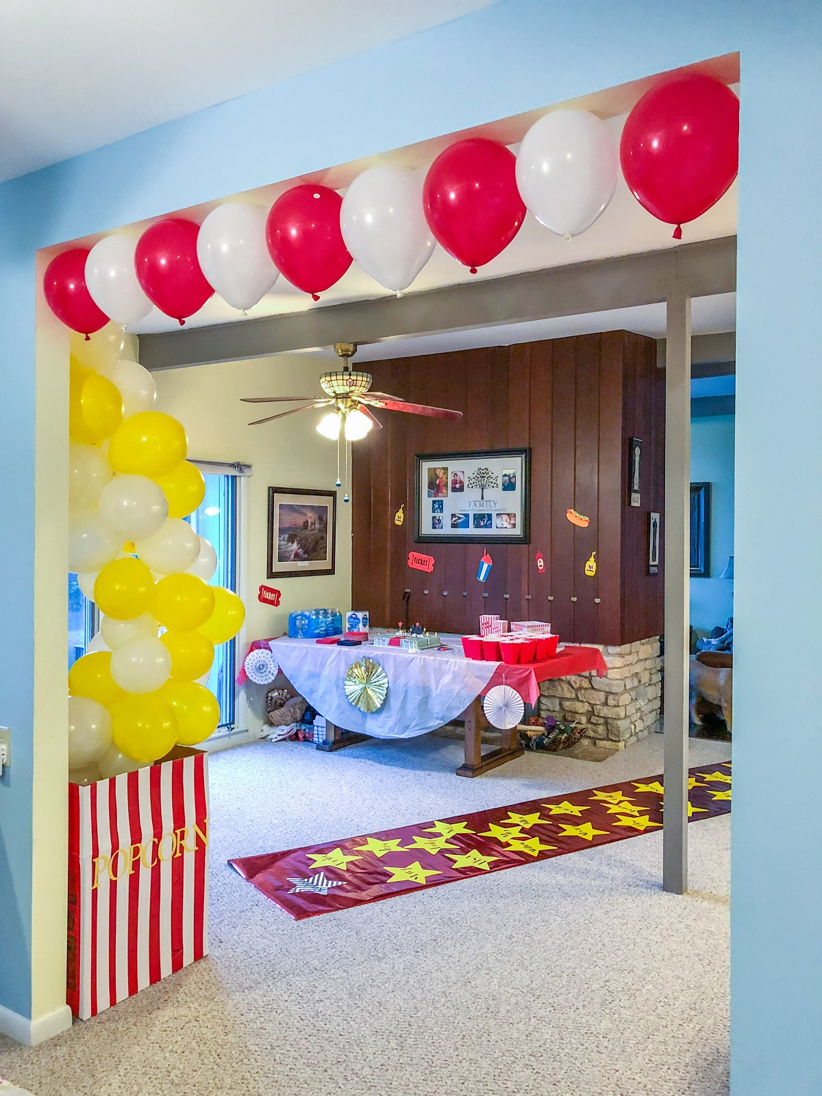 Diy Movie Theater Birthday Party Food Family And Chaos