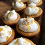 Mini-Pumpkin Cheesecakes with Salted-Caramel Crunch Topping