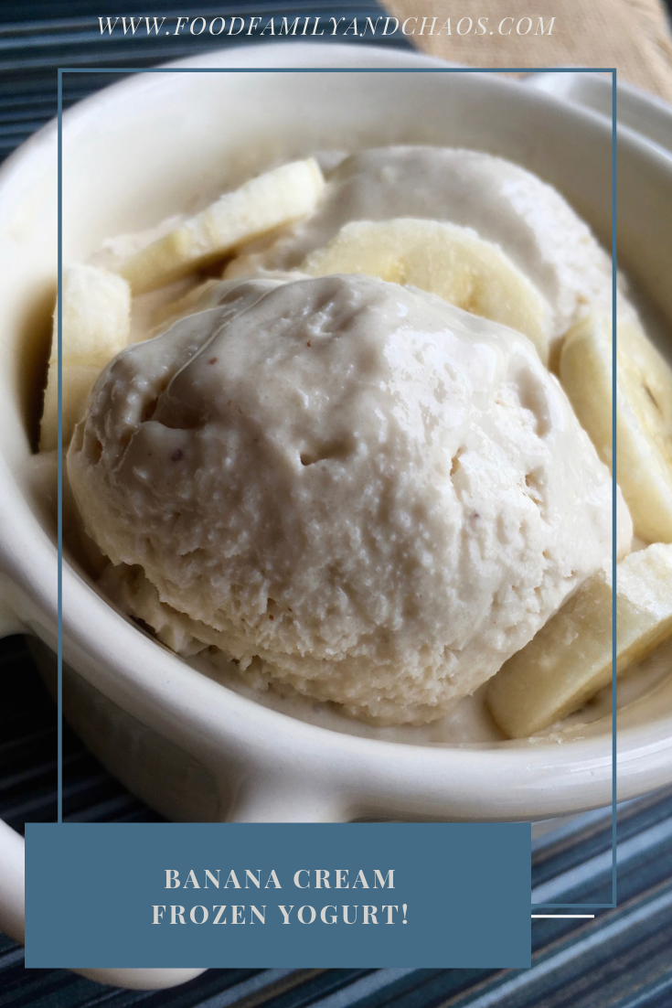 Banana Cream Frozen Yogurt!