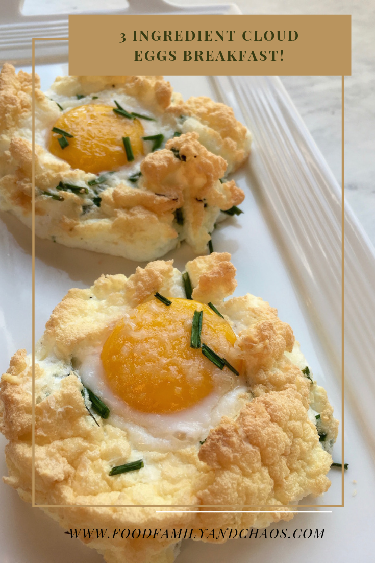 3 ingredient cloud eggs breakfast