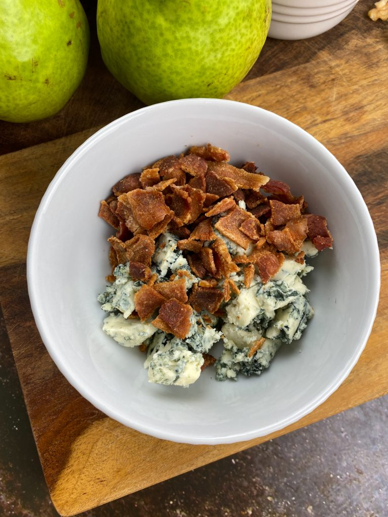 Roasted Pears with Blue Cheese & Walnuts